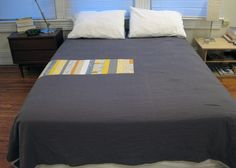 Simple Grey and Yellow Quilt