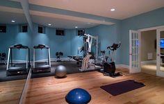 basement gym design ideas home gym design basement gym designs home gym modern with dance studio exercise room home gym home gym design Home Gym Decor, Gym Room At Home, Workout Room Home, Workout Rooms, Exercise Rooms, Dance Exercise, Basement Gym, Basement Renovations, Basement Ideas