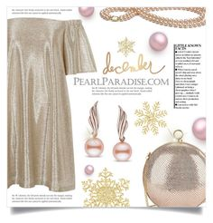 """Holidays with PEARL PARADISE: Contest with prizes!"" by dolly-valkyrie ❤ liked on Polyvore featuring Halston Heritage, River Island, Heidi Swapp, pearljewelry and pearlparadise"