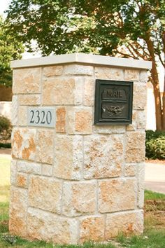 monumental limestone mailbox google search mailbox designsmailbox ideasstone