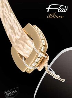 NEW! Exquisite Flair Art Couture Style 165 featuring Swarovski Elements and 24-carat gold coating. Made in Germany.