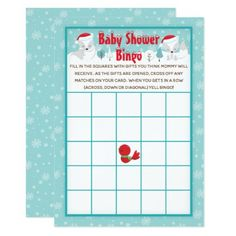 Christmas Woodland Arctic Foxes Baby Shower Bingo Invitation Baby Bingo, Baby Shower Bingo, Baby Shower Invitations For Boys, Couples Baby Showers, Arctic Fox, Gender Neutral Baby Shower, Woodland Baby, Baby Hats, Foxes