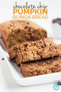 So many things we love wrapped into a loaf of bread. Gluten-Free Pumpkin Bread with Chocolate Chips via simplyquinoa.com (dairy-free)