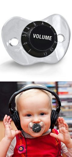 Volume Dial Mute the Baby Pacifier // a little bit mean but SO funny! :)