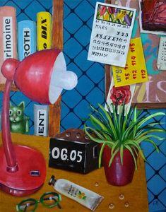 Original Interiors Painting by Elke Thiebaut Wood Canvas, Oil On Canvas, Canvas Art, Contemporary Decorative Art, Original Paintings, Original Art, Naive Art, Interior Paint, Figurative Art