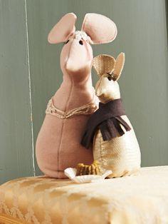 burda style - Für die beiden Mäuse mit aufgestickten Augen gibt es einen Schnitt. Nr. 159 aus 12-2013