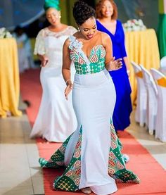 Image may contain: one or more people, people standing and wedding African Bridesmaid Dresses, African Wedding Attire, Latest African Fashion Dresses, African Dresses For Women, African Print Wedding Dress, Ankara Fashion, African Attire, African Bridal Dress, African Women
