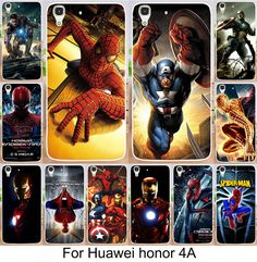 Hot selling Painted Superman Spider man iron Man PC moblie phone case For Huawei Y6 Honor 4A Honor4A Cases back cover skin shell #Affiliate