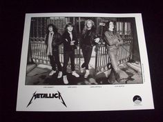 Metallica, Early Promotional Photograph w/Cliff Burton, Metallica Picture Promo!