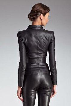 Pvc Fashion, Fashion Moda, Leather Fashion, Womens Fashion, Leather Jeans, Leather And Lace, Black Leather, Leather Jacket, Leather Catsuit