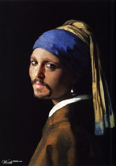 "Johnny Depp as ""The Girl with the Pearl Earring"""