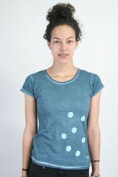 Punkte-Shirt, blau von Spangeltangel auf DaWanda.com