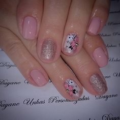 Image may contain: one or more people and closeup Lace Nail Art, Lace Nails, Glitter Nails, Nail Polish Designs, Nail Art Designs, How To Do Nails, Fun Nails, Angel Nails, New Nail Art