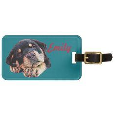 Rottweiler Puppy Love Rott Dog Canine German Breed Luggage Tag - love gifts cyo personalize diy