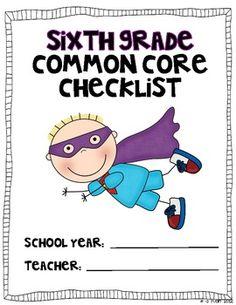 Sixth Grade Common Core Checklist