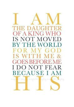I Am A Daughter Of A King