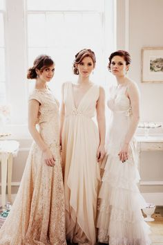 """Visions of pure loveliness in this New York photo shoot by Judy Pak & Caroline Frost. With """"modern Marie Antoinette"""" styling from Michelle Edgemont and Floral Design by Barbara's Flowers. Gowns by Samuelle Couture + Galit Levi via Designer Loft. See more of these amazing gowns on SMP right here ~ http://stylemepretty.com/2012/03/29/metropolitan-building-marie-antoinette-inspired-photo-shoot-by-judy-pak-photography"""