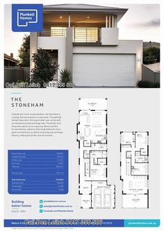 Two Storey House Plans, Narrow House Plans, 2 Storey House Design, Modern House Plans, Condo Floor Plans, Home Design Floor Plans, Cottage House Plans, Dream House Plans, Modern Villa Design