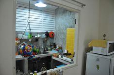 PANTIP.COM : R10581174 ครัวปูนหลังบ้านทาวเฮ้าส์หลังน้อย [ที่พักอาศัย] Concrete Kitchen, Blinds, Kitchen Cabinets, Curtains, Home Decor, Decoration Home, Room Decor, Shades Blinds, Cabinets