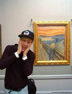 """Me in front of Munch's painting """"The Scream"""" at National Gallery Oslo"""