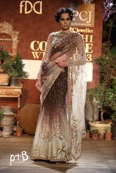 Love the Ombre. Delhi Couture Week 2013 : Sabyasachi