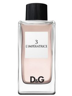 D&G - 3 L'Imperatrice - I want this!   3 L'Imperatrice is a confident, charismatic, boundary-shattering blend with a top of rhubarb, kiwi accord, and red currant; a heart of pink cyclamen, watermelon, and jasmine; and a base of musk, sandalwood, and grapefruit wood.