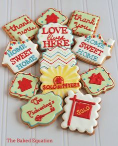 New House Cookies | Custom Cookie Dozens | custom cookie dozens - The Baked Equation ...