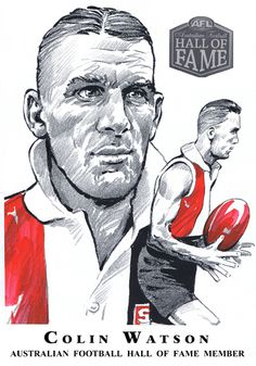 Hall of Fame — Col Bodie Sports Art Australian Football, Football Hall Of Fame, St Kilda, Sports Art, History, Saints, Club, Illustration, Historia