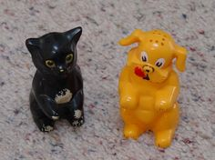 Vintage  Salt and Pepper Shakers  by Kenl-Ration Fiddo and FiFi on Etsy, $12.50