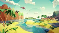 Risultati immagini per unity low poly terrain 3d Landscape, Summer Landscape, Environment Concept, Environment Design, Anime Chibi, Design 3d, Flat Design, Low Poly Games, Polygon Art