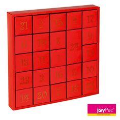 """#Adventskalender PUZZLE BOX """"Darling"""" von #joyPac® ● #Puzzle-Adventskalender sind im attraktiven Design ● Sie müssen die 24 Boxen nur noch mit kleinen Geschenken befüllen. ● Werden die Schachteln umgedreht, entsteht ein neues Motiv. ● Zum Aufstellen oder auch zum Aufhängen ● 23 Boxen haben eine Größe von 6x6x6 cm und eine Box mit der Größe 6x6x12,5 cm. ● Aufgestelltes Format: 34 x 6 x 34 cm ● #Wellpappe, #Karton, #Kreativ, #Advent, #Weihnachten"""