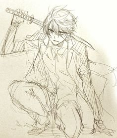 Horikawa so cool! Cartoon Kunst, Anime Kunst, Anime Drawings Sketches, Anime Sketch, Art Poses, Drawing Poses, Kagami Kuroko, Wie Zeichnet Man Manga, Manga Drawing Tutorials