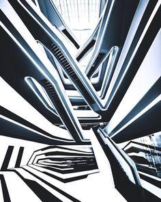Amsterdam Architecture, Zaha Hadid Architecture, Contemporary Architecture, Art And Architecture, Stair Art, Planet Coaster, Zaha Hadid Design, Archi Design, Geometric Lines