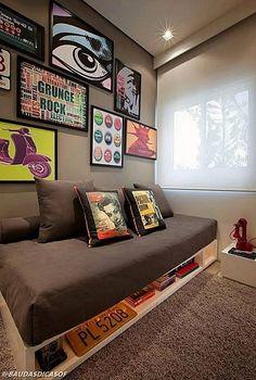 New living room art vintage ideas Diy Pallet Sofa, Pallet Furniture, Teenage Room, Teenage Bedrooms, Aesthetic Rooms, Living Room Art, New Room, Interior Design Living Room, Diy Home Decor