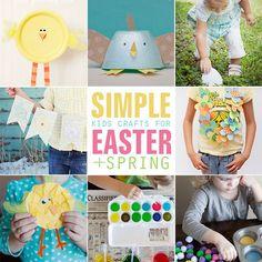 8 Simple Kids Craft ideas for Easter   Spring. #easter #spring #crafts