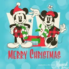 Disney's Mickey & Minnie:) Merry Christmas! Disney Merry Christmas, Mickey Mouse Christmas, Christmas Cartoons, Mickey Minnie Mouse, A Christmas Story, Disney Mickey, Disney Nerd, Christmas Crafts, Disney Diy