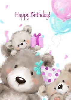 Birthday Wishes Flowers, Birthday Wishes Greetings, Birthday Wishes Cake, Friend Birthday, Birthday Cards, Happy Birthday Bear, Snoopy Birthday, Happy Birthday Quotes, Tatty Teddy