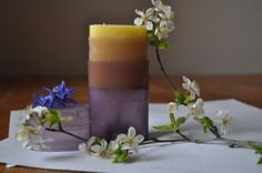 2 Pillar Candles, Table Decorations, Diy, Notes, Blog, Home Decor, Report Cards, Decoration Home, Bricolage