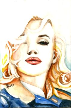 "Marilyn art from ""The Misfits""."