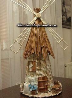 Recycled Paper Crafts, Newspaper Crafts, Paper Basket Weaving, Weaving Art, Bottle Art, Bottle Crafts, Magazine Crafts, Paper Mache Sculpture, Fairy House Crafts