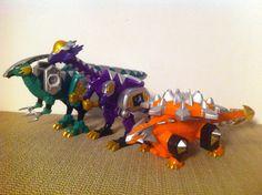 Dino Thunder  Parasaur,Cephala and Ankylo Zords