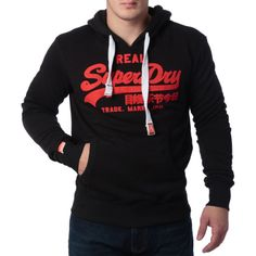 "Ανδρική Μπλούζα Hoodie ""Super Dry "" Real - Μαύρο  http://brands4all.com.gr/collections/mens-sweatshirt/products/super-dry-real-1"
