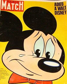 December 24, 1966. The most famous press cover for Walt Disney's death designed by the French magazine Paris Match. #deepcor #disney #waltdisney #mickeymouse #publicity #presscover #news #media #parismatch