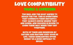 Know the love compatibility of taurus and capricorn and their love life.