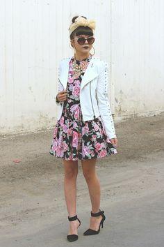 bubble gum floral Rumorless Threads dress