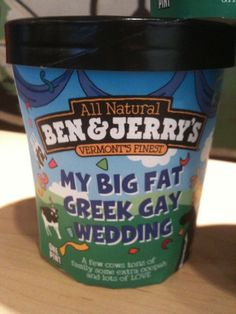 Ben and Jerry's let a gay couple get married in their factory and made them their own ice cream for their wedding! If a company will support marriage knowing it could risk their sales but not caring, why can't everyone else? YOU have nothing to lose by supporting.