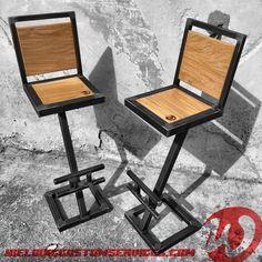 Welded Furniture, Reclaimed Furniture, Steel Furniture, Industrial Furniture, Diy Furniture, Furniture Design, Farmhouse Table Legs, Rustic Vanity, Welding Table