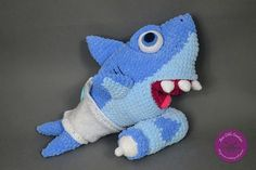 Ravelry: Baby Shark amigurumi pattern by Ami Little Creature