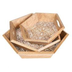 Gerson Company Lone Elm Studios Medallion Nesting Trays - Set of 3 - 93698