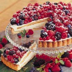 Torta ai frutti di bosco: una dolce tentazione, dal gusto fresco di gelato.